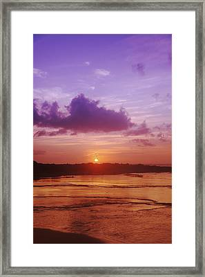 Purple And Orange Sunset Framed Print by Vince Cavataio - Printscapes
