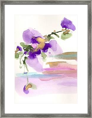Purple Flower Framed Print by Darlene Flood