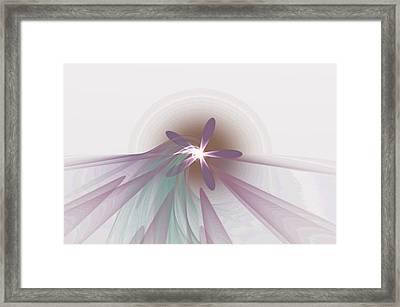 Purple Fractal Flower Framed Print by Gina Lee Manley