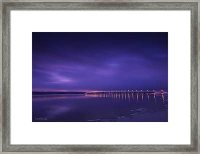 Purple Hazes  Framed Print by Chad Bromley