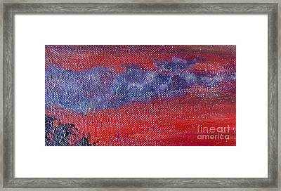 Purple Isle Sky Framed Print by Authentic Occurrence