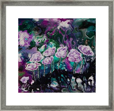 Purple Lava Floral Framed Print by Shelly Leitheiser