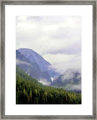 Purple Mountain Majesties Framed Print by Mindy Newman