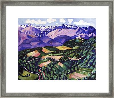Purple  Mountains  Vence Framed Print by Pg Reproductions