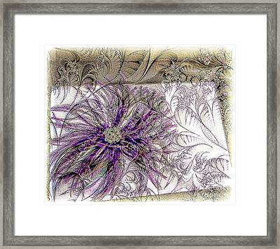 Purple Plume Framed Print by Michelle Frizzell-Thompson