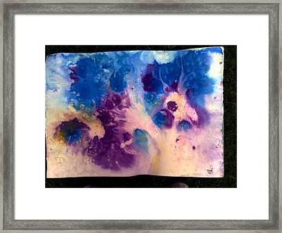 Purple Skies Framed Print by Tis Art