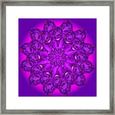 Purple Spoonz Framed Print by Linda Pope