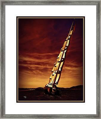 Pursue The Falcon Framed Print by Gennadiy Golovskoy