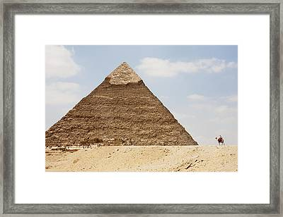 Pyramid Of Khafre Chephren, Giza, Al Framed Print by Peter Langer