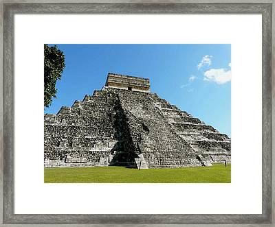 Pyramid Of Kukulcan Framed Print by Cute Kitten Images