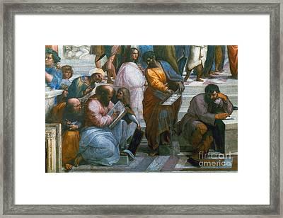 Pythagoras (569-475 B.c.) Framed Print by Granger