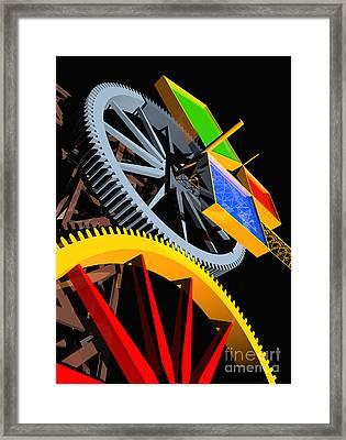 Pythagorean Machine Portrait 4 Framed Print by Russell Kightley