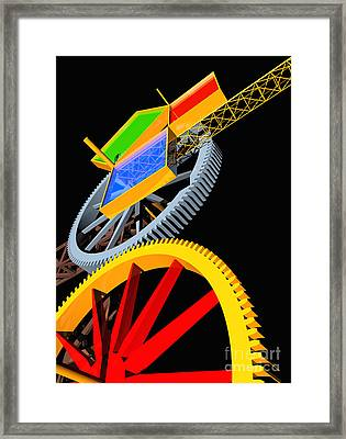Pythagorean Machine Portrait 5 Framed Print by Russell Kightley