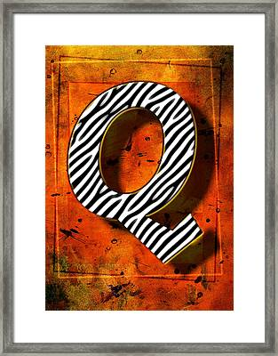 Q Framed Print by Mauro Celotti