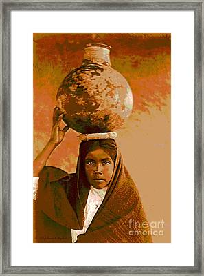Qahatika Water Girl Framed Print by Padre Art