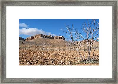 Qalamoun Mountains Framed Print by Issam Hajjar