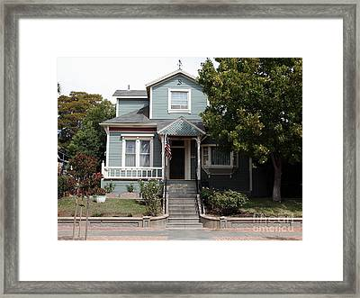 Quaint House Architecture - Benicia California - 5d18594 Framed Print by Wingsdomain Art and Photography