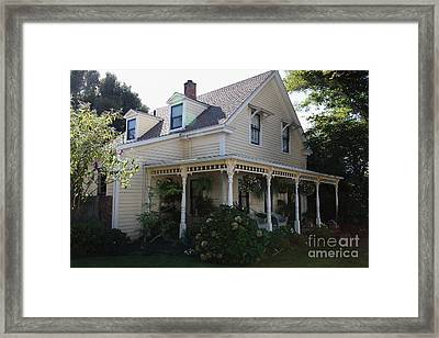 Quaint House Architecture - Benicia California - 5d18793 Framed Print by Wingsdomain Art and Photography