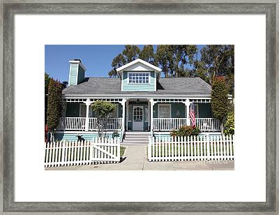 Quaint House Architecture - Benicia California - 5d18817 Framed Print by Wingsdomain Art and Photography
