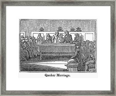 Quaker Marriage, 1842 Framed Print by Granger