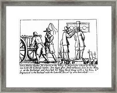 Quaker Persecution Framed Print by Granger