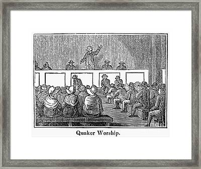 Quaker Worship, 1842 Framed Print by Granger