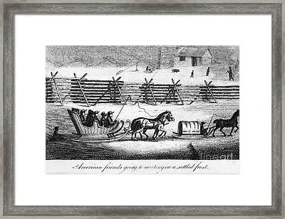 Quakers Going To Meeting Framed Print by Granger