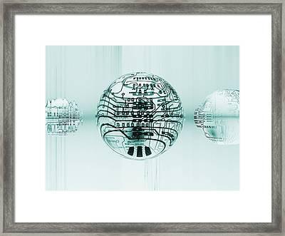 Quantum Computing Framed Print by Mehau Kulyk
