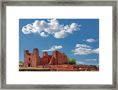 Quarai Ruins At Salinas Pueblo Missions National Monument Framed Print by Christine Till