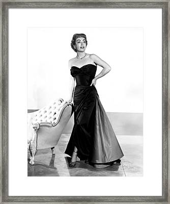 Queen Bee, Joan Crawford, In A Gown Framed Print by Everett