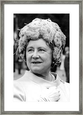Queen Elizabeth Aka Queen Mother, May Framed Print by Everett