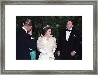 Queen Elizabeth II And Prince Philip Framed Print by Everett