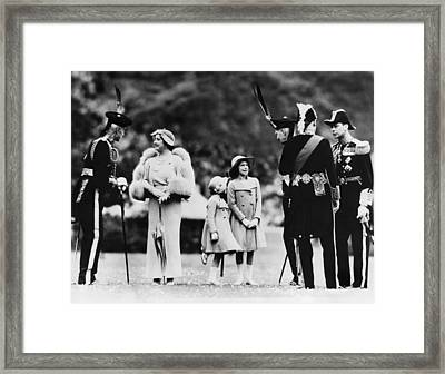 Queen Elizabeth Second From Left Framed Print by Everett