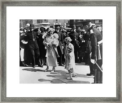 Queen Mother Elizabeth Center Left Framed Print by Everett