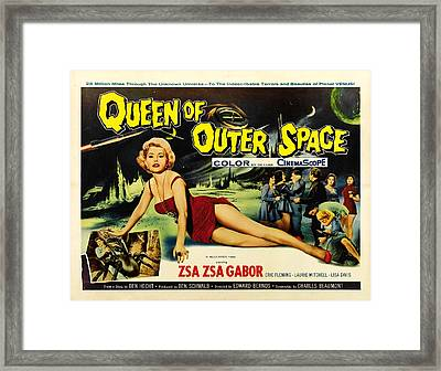 Queen Of Outer Space, Zsa Zsa Gabor Framed Print by Everett