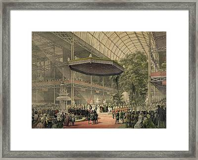 Queen Victoria Presides At The State Framed Print by Everett