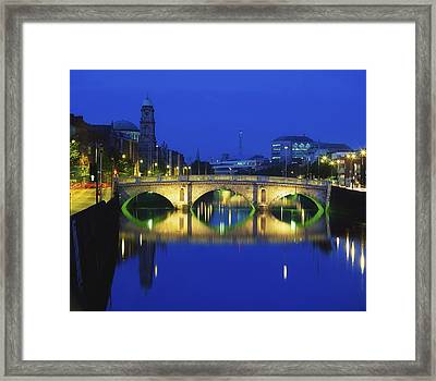 Queens Street Bridge, River Liffey Framed Print by The Irish Image Collection