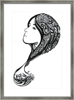 Question Framed Print by Kendrew Black