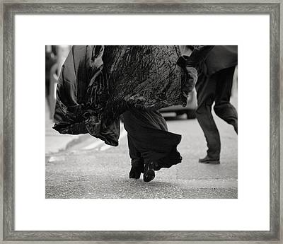Quick Step Framed Print by Marcio Faustino