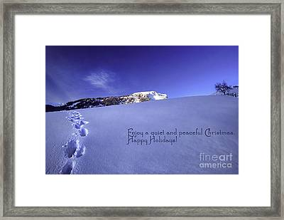 Quiet And Peaceful Christmas Framed Print by Sabine Jacobs