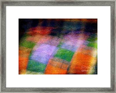 Quilt In The Cupboard Framed Print by Judi Bagwell