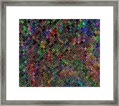 Quilt Framed Print by JaNell Golden