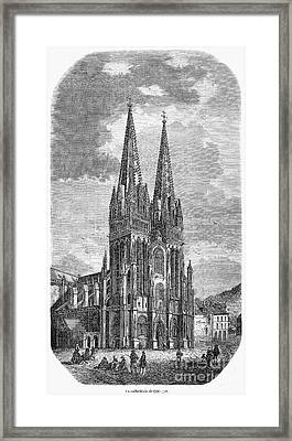 Quimper: Cathedral, 1856 Framed Print by Granger