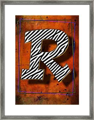 R Framed Print by Mauro Celotti