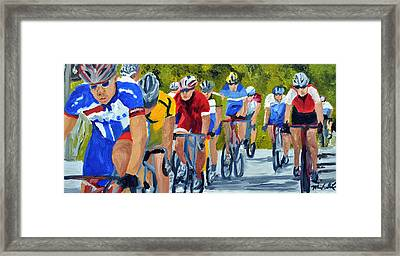 Race Warm Up Framed Print by Michael Lee