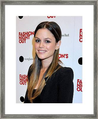 Rachel Bilson At A Public Appearance Framed Print by Everett
