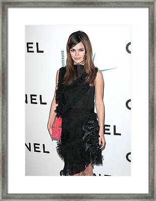 Rachel Bilson Wearing Chanel Framed Print by Everett