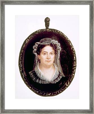 Rachel Jackson 1767-1828, Wife Framed Print by Everett