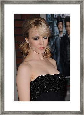 Rachel Mcadams At Arrivals For Sherlock Framed Print by Everett