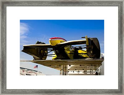 Racing Car Nose Framed Print by Darcy Michaelchuk